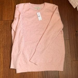 Pink Speckled Loft Sweater BNWT